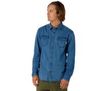 Willow Shirt LS indigo herringbone