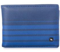 Slim Print Geldbörse blau