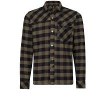 Flannel Fleece Hemd grün