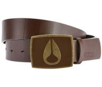 Enamel Icon Belt dark brown