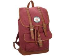 Addie Canvas Backpack burgundy