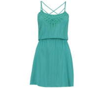 Lattice Back Detail Dress blue slate