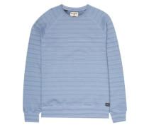 Die Cut Stripe Crew Sweater powder blue