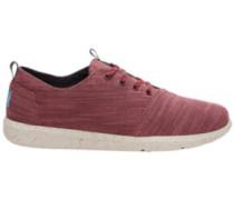 Del Rey Sneakers pomegrante slubby linen