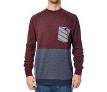 Cranky Crew Sweater bordeaux red