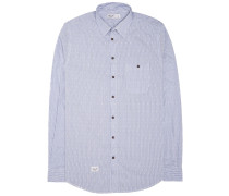 Pinstripe Hemd blau