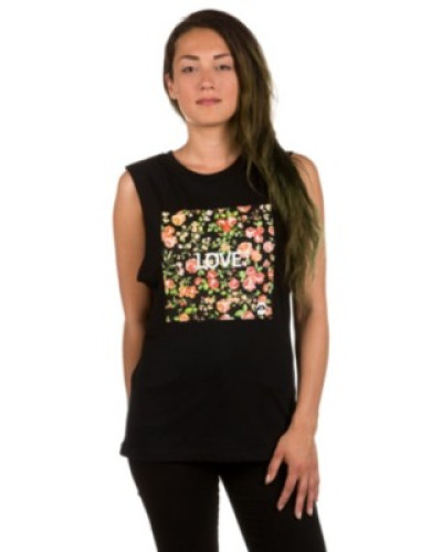 Roses Square Tank Top black