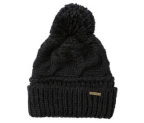 Feather Top Beanie black