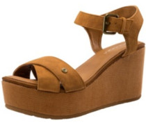 Stone Platform Sandals Women cognac