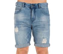 Select Ripped Denim Shorts blau