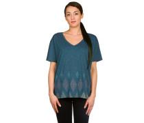 Geo V-Neck T-Shirt blau