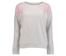 Lace Crew Sweater weiß