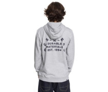 Durable Timer Zip Hoodie grey heather