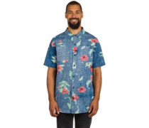 Floral Push Shirt navy