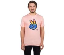 Peeace T-Shirt peach