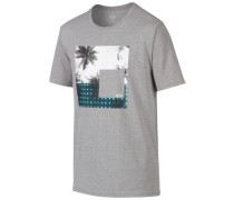 50/50 Palm Scene T-Shirt athletic heather grey
