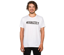 Grizzly Lock Crew T-Shirt weiß
