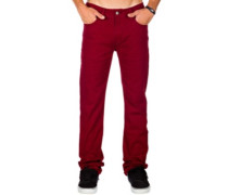 Skin Stretch Jeans wine red