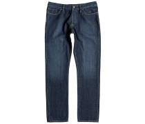 Worker Straight Jeans blau