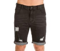 Select Ripped Denim Shorts schwarz