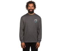 Simple Adam T-Shirt LS charcoal heather
