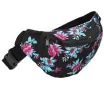Hula Floral Fanny Bag black
