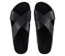 Strap Detail Slide Sandals Women black out