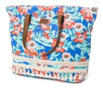 Mia Flores Beach Bag blue