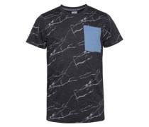 Pocket T-Shirt black marble