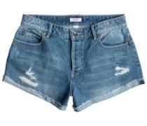 Biker Shorts med blue wash