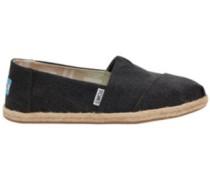 Seasonal Classics Slippers Women black washed canvas