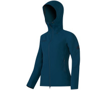 Base Jump Hooded Softshell Jacke blau