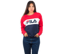 Leah Crew Sweater br wht