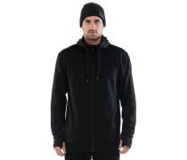 Merino Mid-Hit X Zip Hoodie black