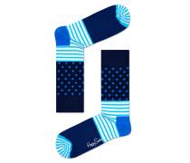 -Socken mit Print Blau/Weiß