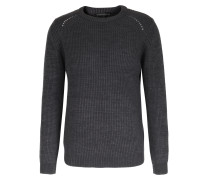 Grobstrick-pullover Divo Woll-mix Dunkelgrau