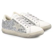 Sneakers Bianco Glitter Silber