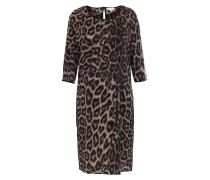 Seiden-Stretch-Kleid Flippa Leopard