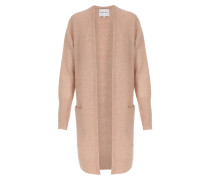 Langer Cardigan Brook Knit Cape im Mohair-Woll-Mix Rose