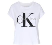 Kurzes T-shirt Taka Mit Schriftzug Weiß
