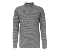 Turtleneck-Pullover aus Superior Woll-Mix Anthrazit