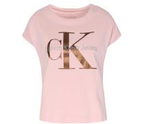 Boxy Shirt Taka mit Schriftzug Rosé