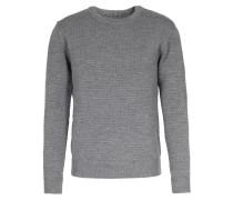 Merinowoll-pullover Mit Wabenmuster Grey