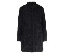 Mantel In Teddyfell-optik Black