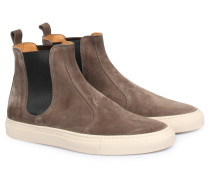 Slip-On Veloursleder-Sneakers Tanino Taupe