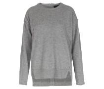 Cashmere-pullover Mit Zipper Im Rückteil Soft Grey