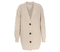 Cardigan aus Schurwoll-Cashmere-Mix Powerful Ease Offwhite