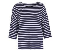 Gestreiftes Sweatshirt Im Viskose-modal Mix
