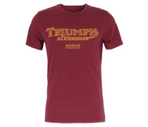 Baumwoll Shirt mit Slogan-Print Cordovan
