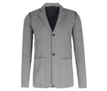Jersey-Blazer mit Kontrast-Details Mid Grey